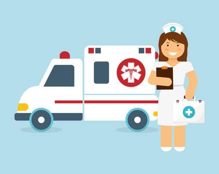 mentors: Nurse design, vector illustration 10 eps graphic