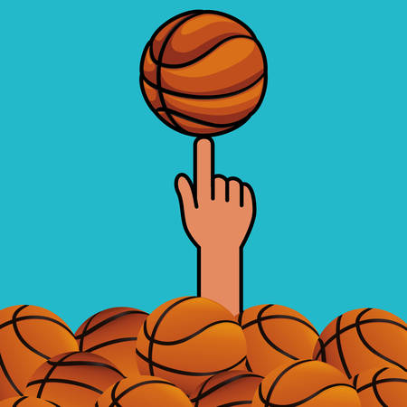 professional basketball league: Basketball digital design, vector illustration 10 eps graphic Illustration