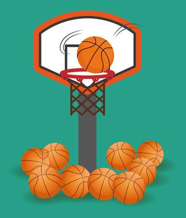 moving activity: Basketball digital design, vector illustration 10 eps graphic Illustration