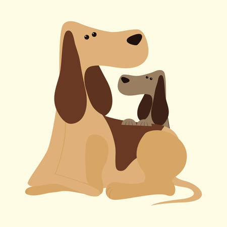 trusting: Pet´s love digital design, vector illustration 10 eps graphic Illustration