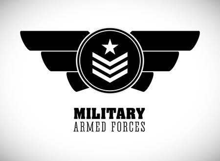 arm: Military Armed Forces digital design, vector illustration 10 eps graphic Illustration