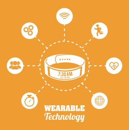 wristband: Wearable Technology digital design, vector illustration 10 eps graphic