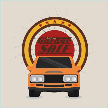 renting: Garage digital design, vector illustration 10 eps graphic Illustration