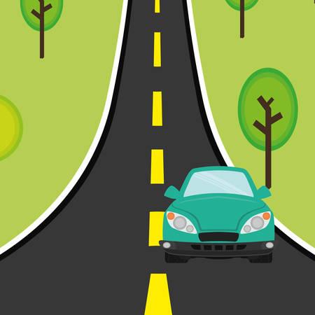 commercial tree service: Car digital design, vector illustration