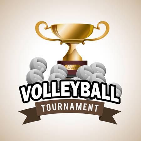 voleibol: Diseño digital Voleibol, ilustración vectorial eps 10 gráfico