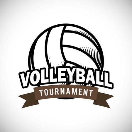 pelota de voleibol: Dise�o digital Voleibol, ilustraci�n vectorial