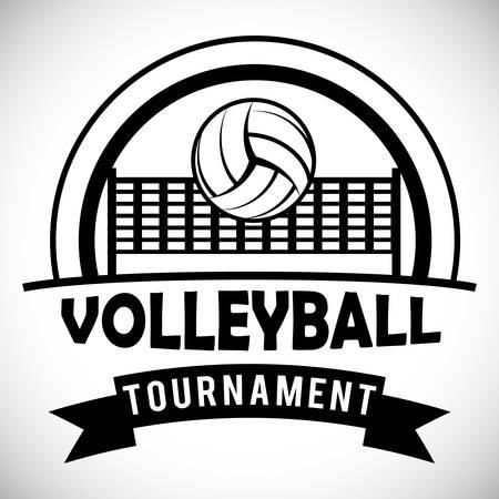 sports club: Volleyball digital design, vector illustration  Illustration