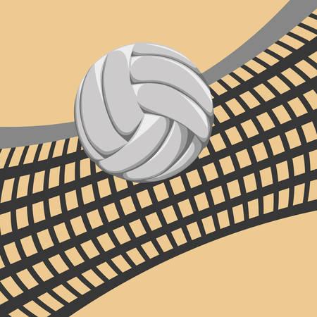 moving activity: Volleyball digital design, vector illustration  Illustration