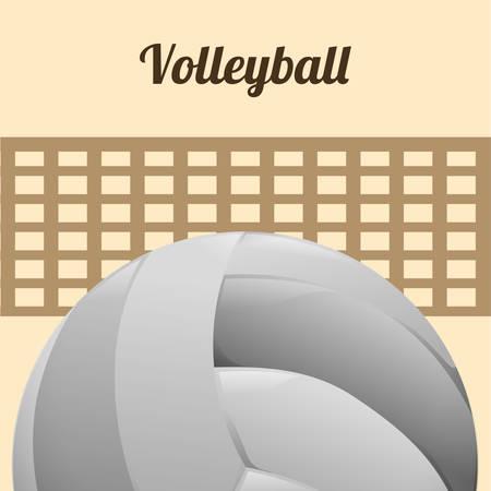 moving activity: Volleyball digital design, vector illustration