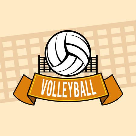 voleibol: Diseño digital Voleibol, ilustración vectorial