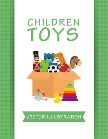 kids toys: Toys  digital design, vector illustration