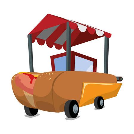 Dining Cart: Fast Food Digital Design, Vector Illustration