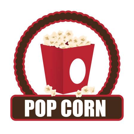 fresh pop corn: Fast Food digital design, vector illustration