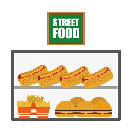 comida rápida: Fast Food digital design, vector illustration