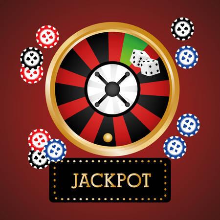 losing money: Jackpot digital design, vector illustration 10 eps graphic