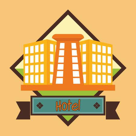 rotting: Hotel digital design, vector illustration  Illustration