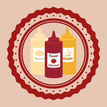 comida rápida: Comida r�pida dise�o digital, ilustraci�n vectorial