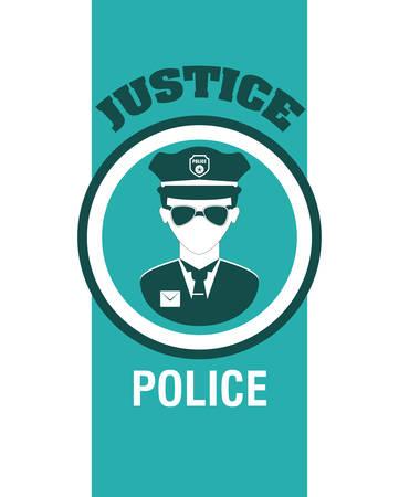 justness: Justice digital design, vector illustration