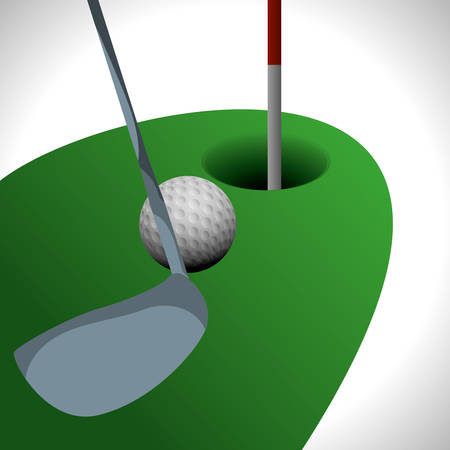 championship: Golf digital design, vector illustration