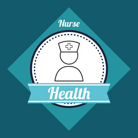 nurse patient: Medical care digital design, vector illustration