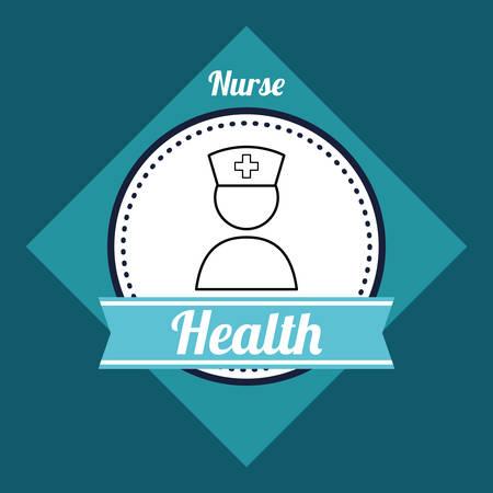patient doctor: Medical care digital design, vector illustration