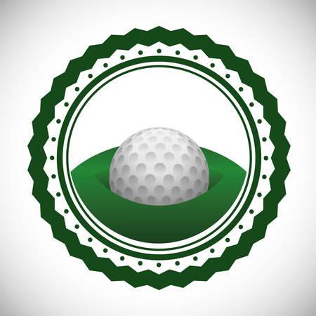 moving activity: Golf digital design, vector illustration Illustration