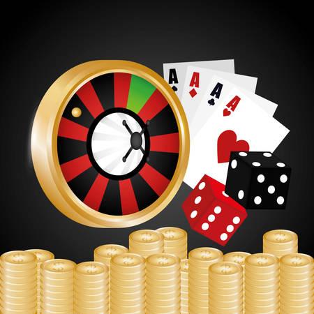 losing money: Jackpot digital design, vector illustration