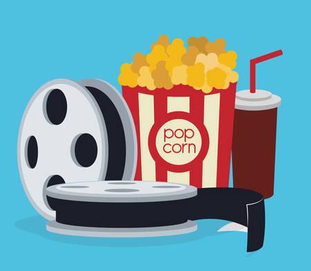 palomitas: Diseño digital Cine, ilustración vectorial