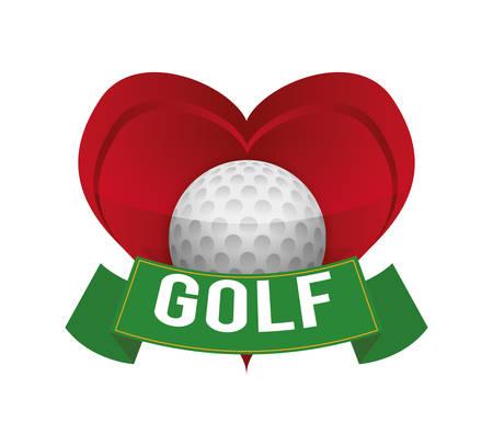 moving activity: Golf digital design, vector illustration
