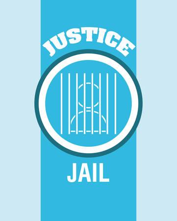 judicial system: Dise�o digital Justicia, ilustraci�n vectorial