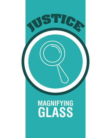 justness: Justice digital design, vector illustration  Illustration