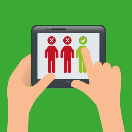 questioning: Survey digital design, vector illustration