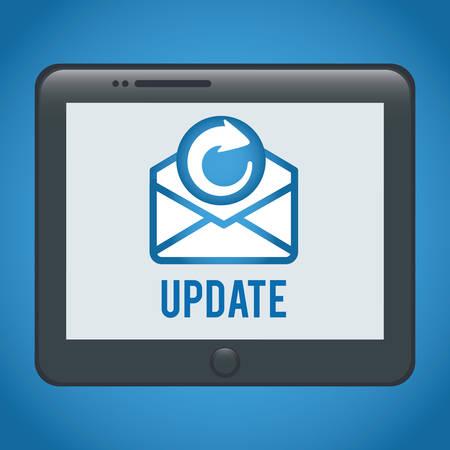 address: Email digital design, vector illustration