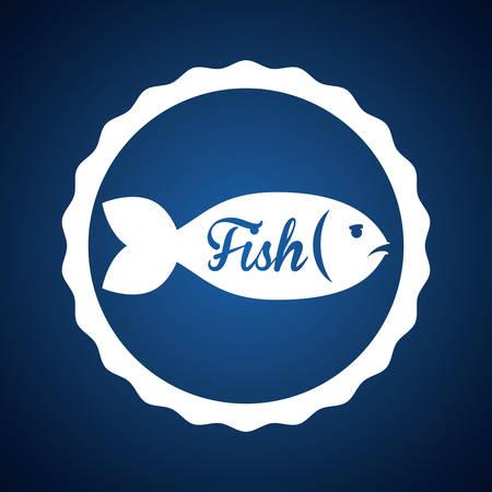 submerged: Fish digital design, vector illustration  Illustration