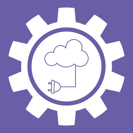 office icons: Cloud Computing digital design, vector illustration