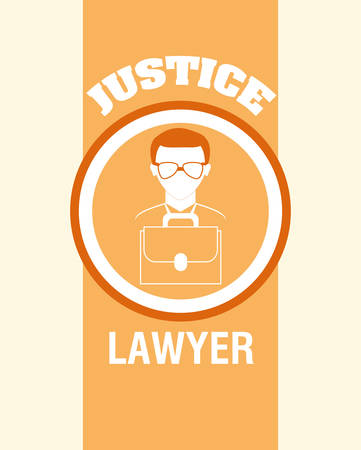 justness: Justice digital design, vector illustration  Illustration