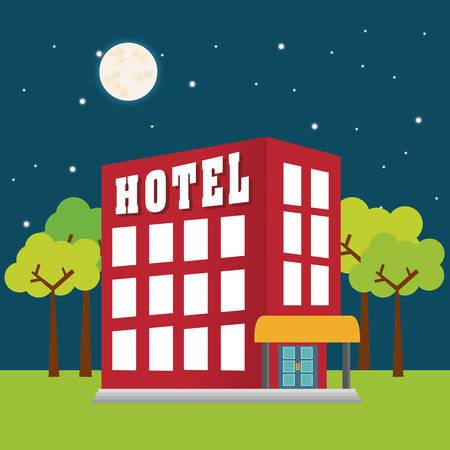 rotting: Hotel digital design, vector illustration