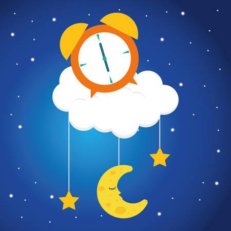 noche y luna: Good Night diseño digital ilustración
