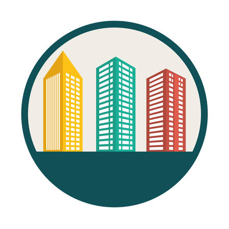 midtown: Building digital design illustration  Illustration
