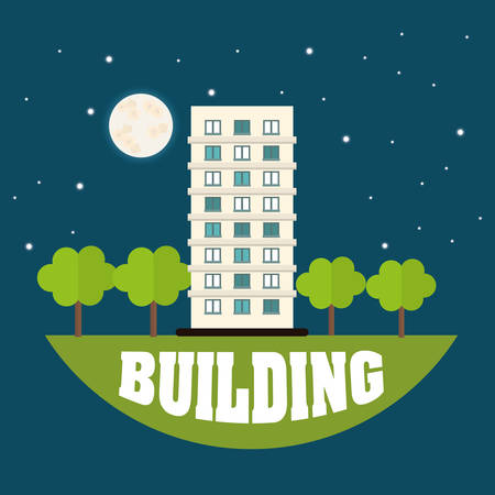 Building digital design Illustration