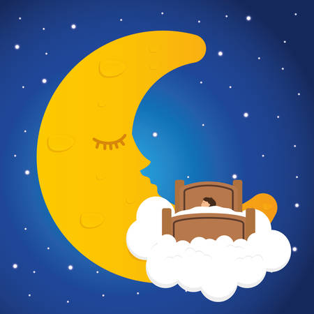 Good Night digital design Illustration