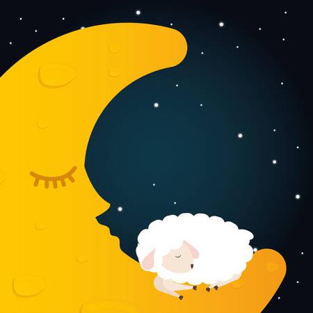 buonanotte: Progettazione digitale Good Night, illustrazione vettoriale 10 eps grafica