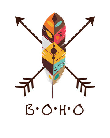 boho: Boho icon digital design Illustration