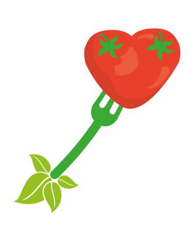 vegan: Vegan Food digital design Illustration
