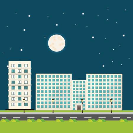 moon  metropolis: Building digital design Illustration