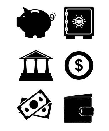 Spaar geld ontwerp Stock Illustratie