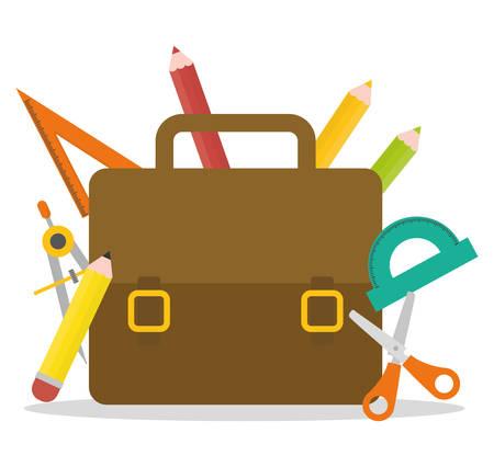 Школа: Вернуться в школу дизайна Иллюстрация