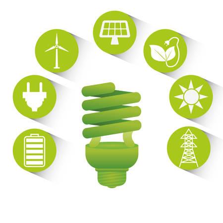 green energy: Go green design. Illustration