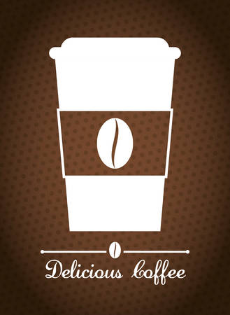 coffee crop: Coffee time design Illustration