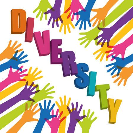 diversidad: Diseño de la gente la diversidad Vectores